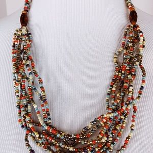 Jewelry - Glass Multi Color/Strand Beaded Necklace